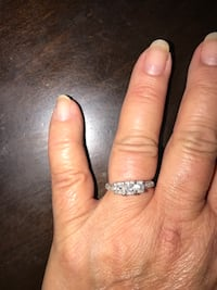 Silver-colored diamond ring Taylor, 48180