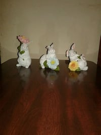 Set of 3 Floral Bunnies  Florence, 35630