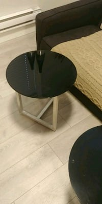 round black wooden coffee table Vancouver, V6M
