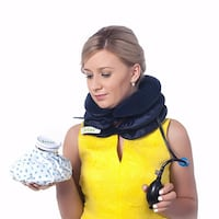 Ingenious Neck Traction Lifts Vertebrae & Relaxes Muscles Around Neck to Relieve Pain. FREE Bonus Hot/Cold Ice Bag Included in This Set. Double Treatment Relieves Pain in Just Minutes JEIAR 6118 km