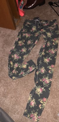 black, pink, and green floral pants Omaha, 68144