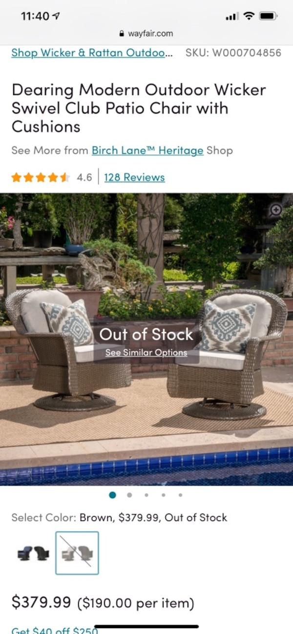 Amazing 2 Modern Outdoor Wicker Swivel Club Patio Chair Pabps2019 Chair Design Images Pabps2019Com