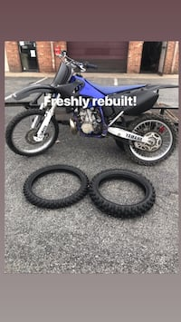black and blue Yamaha motocross dirt bike Washington, 20020