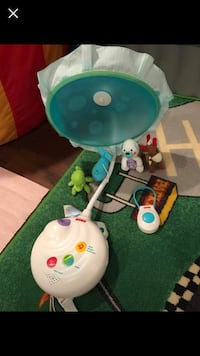 white and blue Fisher-Price cradle n swing Springfield, 22152