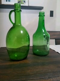 two green glass antique jugs Camp Hill, 17011
