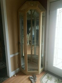 brown wooden framed glass display cabinet Harford County, 21085