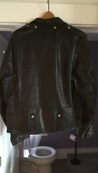 Black leather zip-up jacket Ware, 01082