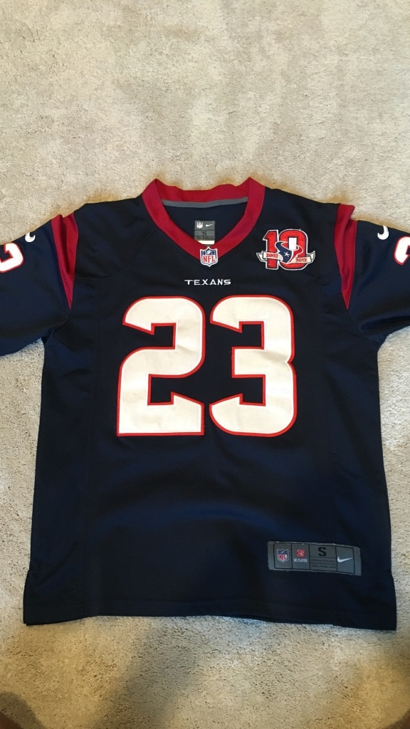 Discount Used Arian Foster 10 year anniversary Houston Texans Jersey for sale  for cheap