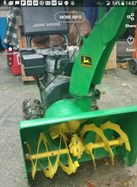 John Deere Snow Blower with chains Lebanon