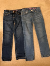 Size 6 jeans from children's place. $10 for both. Size 5/6 shirt $4. In Stone Ridge.