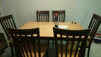 Solid Maple wood table with 6 chairs