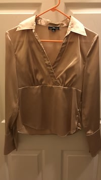 brown leather zip-up jacket Herndon, 20171