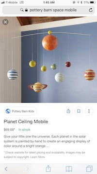 Pottery Barn Kids Solar System Mobile  Cape Coral, 33914