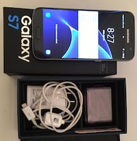 Black samsung galaxy s7 with box Woodbridge, 22192