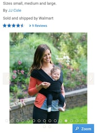New JJ Cole baby carrier Calgary, T3N 0E4