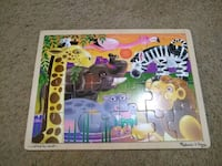 Melissa and Doug African plains wooden puzzle 24 piece