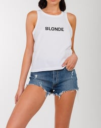 NWT Brunette the Label Blonde Tank Top