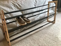Wayfair adjustable shoe rack- like new Falls Church, 22044