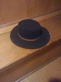 blue and black fedora hat