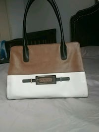 white and brown leather tote bag Toronto, M6N 1Y3