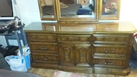 brown wooden dresser with mirror Dover, 19904