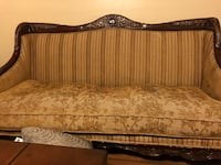 brown wooden framed brown padded couch Balcones Heights, 78201
