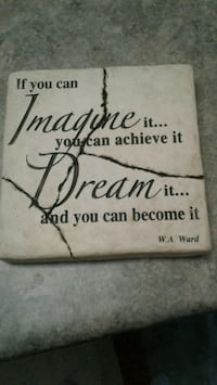 Wall decor Ceramic quote
