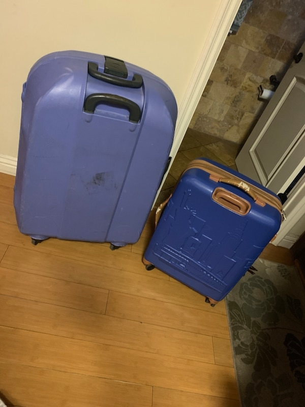 1c63ae2e8cd7 Used blue and black plastic luggage for sale in Los Angeles - letgo