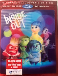 INSIDE OUT NEW SEALED BLU RAY 3D BLU RAY DVD DIGITAL HD Herndon, 20170