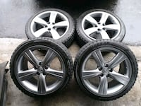 "Rare 18"" Lexus GS OEM rims and winter/snow tires c Toronto, M9L 2K6"