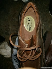 brown and white leather sandals St. Louis, 63116