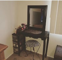 Table chair and mirror