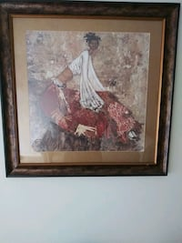 brown wooden framed painting of woman in red dress Silver Spring, 20904