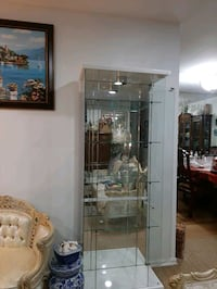 Glass bar   Cabinet White