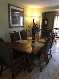Rectangular brown wooden table with six chairs dining set Tempe, 85281