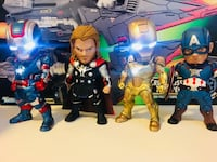 Marvel Avengers Iron man patriot, Thor , Iron man   Midas & Captain American brand new with box , stand   and installed batteries. San Jose, 95110