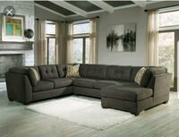 black leather sectional sofa with throw pillows Stockton, 95203