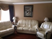 White leather 3-seat sofa St Catharines, L2P 2A4