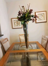 STANLEY WOOD / GLASS DINING ROOM SET