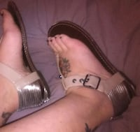 Women's SZ 8 flat brown strappy sandals by Steve Madden- P. Rosi EUC! Mount Airy, 21771