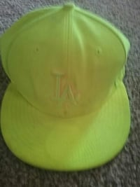 green LA fitted cap