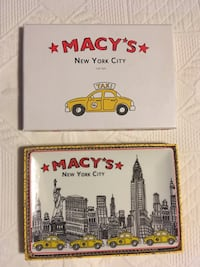 MACYS PORCELAIN TRAY NEW