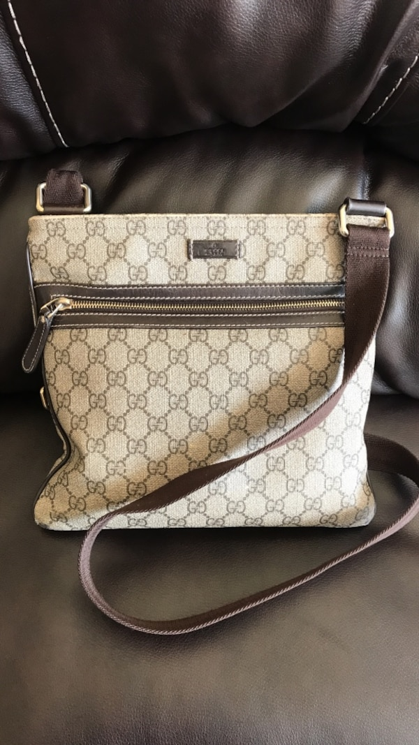7dbecf79e3d7 Used Brown Gucci monogram crossbody bag for sale in Troy - letgo