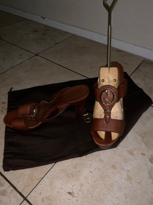 66693d305e21 Used Gucci platform wood sandals size 38. Great condition for sale ...