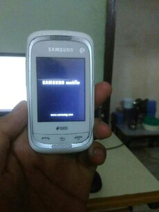 white Samsung Duos smartphone