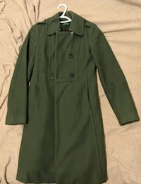 Green button-up coat 3765 km