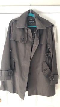 Gray button-up coat 1461 mi