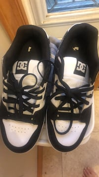 pair of white-and-black Adidas sneakers 366 mi