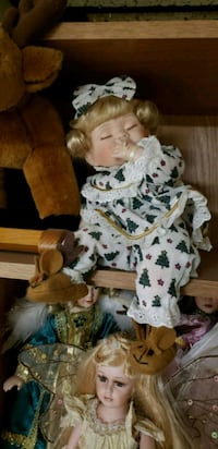 Porcelain baby with a moose Hagerstown, 21740