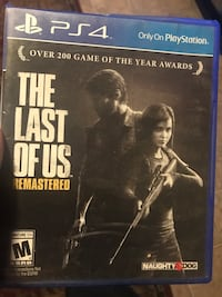 The last of us remastered ps4 game case Glendale